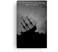 Grey Storm Tossed Ship Canvas Print