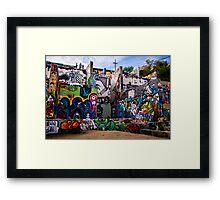 The Graffiti Wall in Austin Framed Print