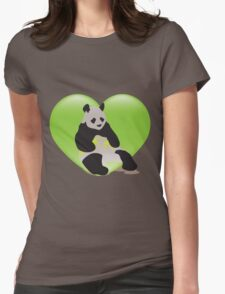 P for Panda Womens Fitted T-Shirt