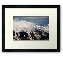 Alaska Mountain Covered in Snow Framed Print