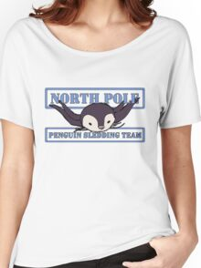 Penguin Sledding Team Women's Relaxed Fit T-Shirt