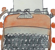 Terrific Typewriter Sticker