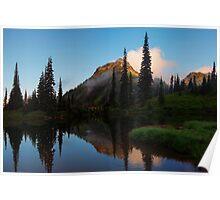 Yakima Peak Reflections Poster