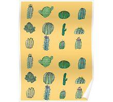 Comical Cacti Poster