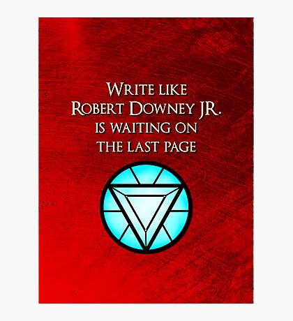 Robert Downey Jr. is Waiting Photographic Print