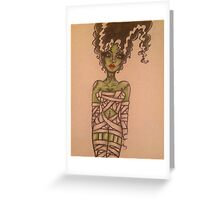 The Monster's Bride Wrapped Up for Halloween  Greeting Card