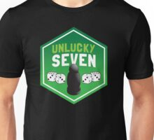 Unlucky seven ( black robber with dice) Unisex T-Shirt