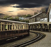 Ffestiniog Railway Station by Irene  Burdell