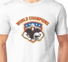 American Football World Champions Shield Unisex T-Shirt