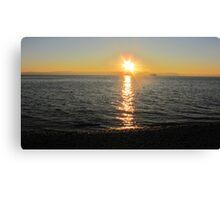 Sunset Siteline Canvas Print