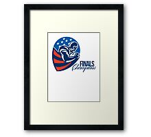 American Football Finals Champions Retro Framed Print