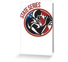 American Football State Series Ball Greeting Card