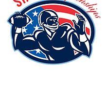 Quarterback State Championships Retro by patrimonio