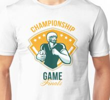 American Football Championship Game Finals Crest Unisex T-Shirt