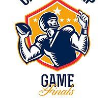 Gridiron Football Quarterback  Championship Game by patrimonio