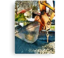 The Hydraulic Shovel  Canvas Print