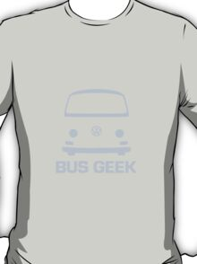 VW Camper Bus Geek Pale Blue T-Shirt