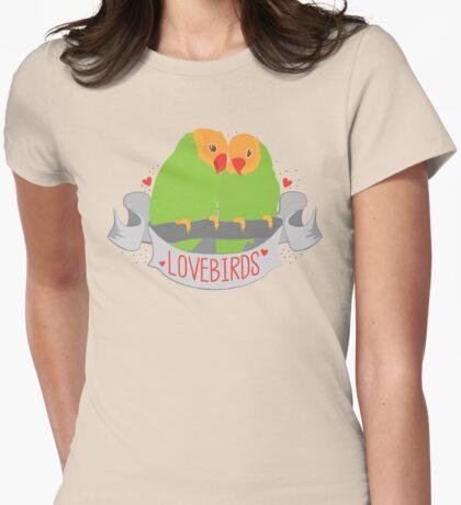 LOVE BIRDS banner Womens Fitted T-Shirt
