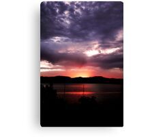 Fervor Of Dusk No. 1 ... Canvas Print