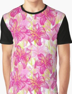 lily flowers pattern  Graphic T-Shirt