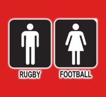 RUGBY V FOOTBALL Baby Tee