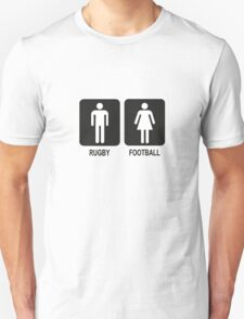 RUGBY V FOOTBALL Unisex T-Shirt