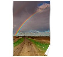 """The Rainbow and The Roadway"" Poster"