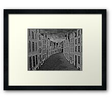 Empty Street Framed Print