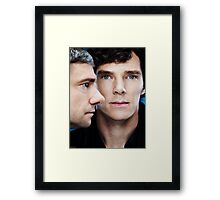 Sherlock and John Framed Print