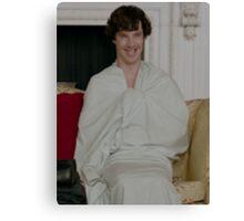 Sherlock in his sheet Canvas Print