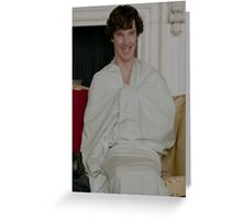 Sherlock in his sheet Greeting Card