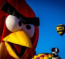 Angry Bird Hot Air Balloon by Tina Hailey