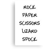 Rock Paper Scissors II Canvas Print