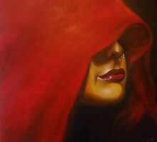 Lady in Red Sari by Sheetal Bhonsle