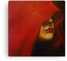 Lady in Red Sari Canvas Print