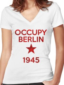 Occupy Berlin 1945 Women's Fitted V-Neck T-Shirt