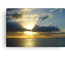 Sunset in Naples Canvas Print