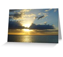 Sunset in Naples Greeting Card