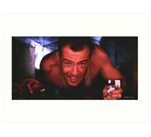 Bruce Willis in the film Die Hard Art Print