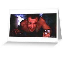 Bruce Willis in the film Die Hard Greeting Card