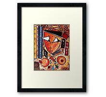 Original Art Painting: Women in the Shower by Hassan Hamdi Framed Print