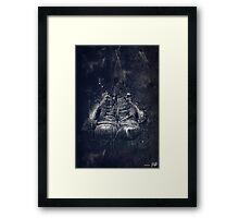 DARK GLOVES Framed Print