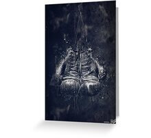 DARK GLOVES Greeting Card