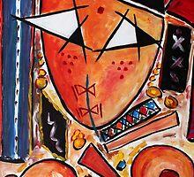 Original Art Painting: Women in the Shower by Hassan Hamdi by Hassan Hamdi