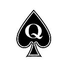 Smartphone Case - Queen of Spades - White by Mark Podger