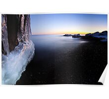 Icy Cove, Lake Superior Poster