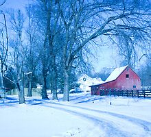 MY FAVORITE BARN IN THE SNOW by Pauline Evans