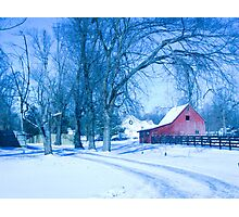 MY FAVORITE BARN IN THE SNOW Photographic Print