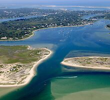 Hardings Beach & Stage Harbor Aerial by Christopher Seufert
