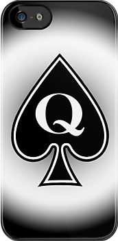 Smartphone Case - Queen of Spades - Metallic by Mark Podger